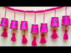 Diy Crafts For Home Decor, Crafts For Kids, Arts And Crafts, Paper Crafts, Door Hanging Decorations, Backdrop Decorations, Diwali Diy, Diwali Craft, Diwali Decoration Items