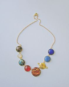 Perfect Alignment Solar System Necklace