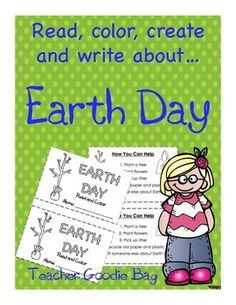 Earth Day Activities Include * Copy,Cut, Read and Color Informational Book with bold words, a glossary and response page * Earth Day Facts Writing Page * Create an Earth Day Poster *Coloring Page Earth Day Facts, Recycling Facts, Earth Day Posters, Bold Words, Earth Day Activities, Teacher Resources, Teacher Tips, Teacher Stuff, Teaching Ideas