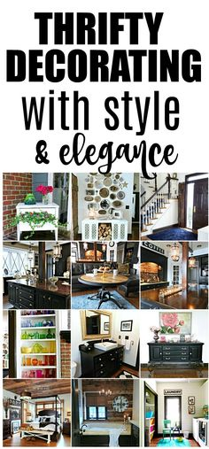 This Michigan family updated their home with thrift store items and lots of paint. There are tons of DIY decorating ideas. Here's the full home tour!