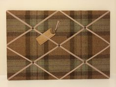 Handmade notice boards - this example is covered in Abraham Moon 100% pure new wool fabric (40cm x 60cm). For information on prices and sizes please contact us at whatlilyloves@btinternet.com Also visit us at www.whatlilyloves.co.uk