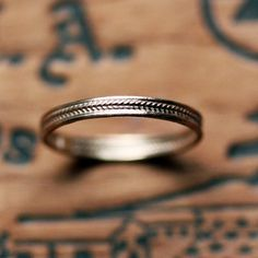 Rose gold wedding band tiny braid recycled 14k by metalicious, $348.00