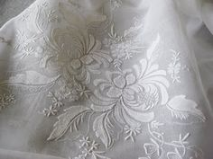 Organdy Madeira Tablecloth
