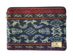 """The """"Omrao Case"""" is a uniquely hand-woven Indonesian ikat laptop case fit for a 13"""" Macbook Pro.  Price: USD $67.00  Discover more hand-woven cases at:  www.bhinnekacases.com Laptop Case, Macbook Pro, Ikat, 21st Century, Hand Weaving, Zip Around Wallet, Cases, The Originals, Digital"""