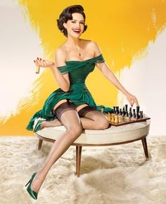 There is nothing like that pinup look. Timeless in my opinion :)