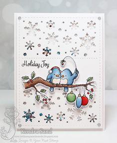 Your Next Stamp:  Tweet Kindness stamp and die set, Snowflake Panel Die  #yournextstamp