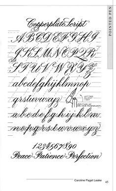 English Roundhand Example Enlarge Print Practice