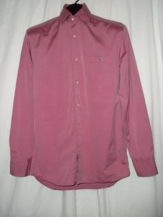 Lacoste Solid Pink Button Front Casual L/S Shirt Size: 38 (Med) #Lacoste #ButtonFront