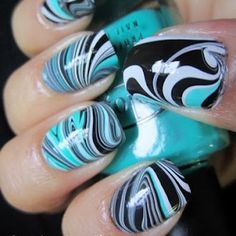 marble nails---- love these. Perhaps a different color?