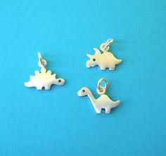 Tiny Dinosaur Necklace Brontosaurus Pendant by zoozjewelry on Etsy, $20.00