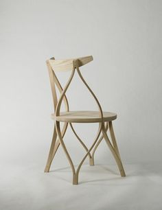 Steam bent wood chair from Studio Dohoon
