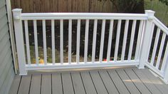 This railing is easy to install over existing wood posts and super easy to maintain while being very affordable. 36 inches Tall.