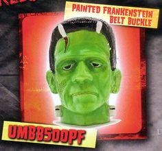 Frankenstein (Painted) belt buckle by Rock Rebel (bb130)
