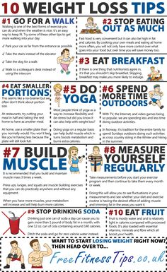10 Weight Loss Tips | Free Fitness Tips