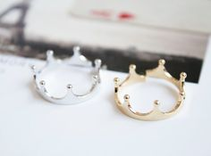 Just Want : Crown Ring Gold en Silver