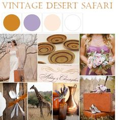 {Vintage Desert Safari}: A Palette of Latte, Lavender, Ivory + White via The Perfect Palette xo Wedding Themes, Wedding Colors, Wedding Ideas, Color Inspiration, Wedding Inspiration, Inspiration Boards, African Theme, African Safari, Wedding Color Pallet