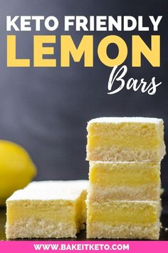 The best tangy Keto Lemon Bars, with coconut flour shortbread cookie crust (tree nut free and NO Jello!). This low carb lemon bar recipe is simple, easy, and sugar free! Sweetened with Swerve, these healthy lemon bars are a fun family dessert recipe to make together during the winter citrus season. #ketodesserts #ketotreats #lowcarbdesserts