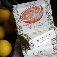 Saipua winter citrus soap