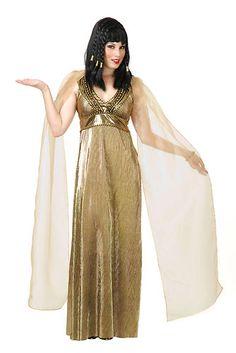 8b0f12daa9f Gold Cleopatra Dress Goddess Egyptian Sexy Womens Adult Halloween Costume  XL