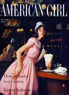 Colleen Corby on Cover of American Girl 1961    jαɢlαdy
