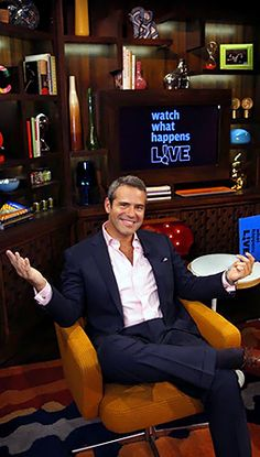 Andy Cohen on Bravo's Watch What Happens: Live...he is a blast to watch.  I laugh out loud every time I watch.