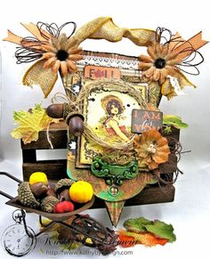 Thankful  Fall Wall Hanging, Harvest, by Kathy Clement for Petaloo, Product by Authentique and Petaloo, Photo 1