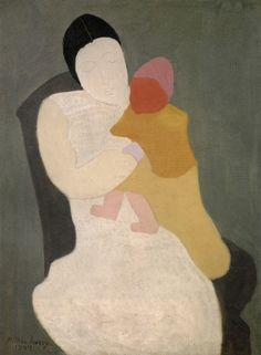 Mother and Child, Milton Avery, 1944 - see how the mother fades as the child is vibrant. Mom's love.
