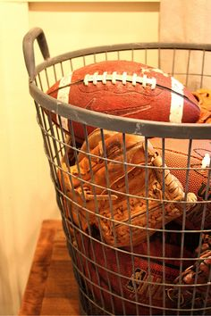 Rustic Sports Basket