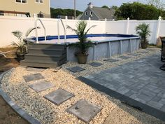 Semi Above Ground Pool, Above Ground Pool Ladders, In Ground Pools, Swimming Pool Landscaping, Swimming Pools Backyard, Swimming Pool Designs, Decks Around Pools, Above Ground Pool Landscaping, Backyard Pool Designs