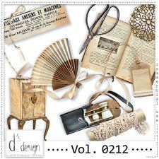 Vol. 0212 - Vintage Mix  by Doudou's Design  #CUdigitals cudigitals.com cu commercial digital scrap #digiscrap scrapbook graphics