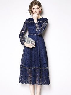 0efb7765505 Vinfemass Multi Buckles Decor Lace Slim Party Dress. Loose Sweater ...