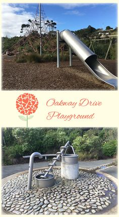 Oakway Drive Playground Auckland: Great Playground with Jungle Gym, Jumble Slide and Fun Water Feature! Lots of Climb, Lots of Fun, Plus a Ball Game or Two!