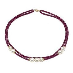 online shopping for Yellow Gold White Freshwater Cultured Pearl Simulated Red Ruby Necklace, from top store. See new offer for Yellow Gold White Freshwater Cultured Pearl Simulated Red Ruby Necklace, Ruby Bracelet, Bracelet Knots, Ruby Necklace, Strand Necklace, Beaded Necklace, Bracelets, Women's Jewelry Sets, Ruby Jewelry, Jewelry Model