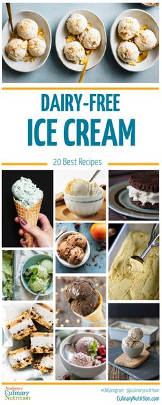 ice cream maker A round-up of more than 20 best dairy-free ice cream recipes from our own Culinary Nutrition Experts and from around the web. Soy Ice Cream Recipe, Best Dairy Free Ice Cream Recipe, Lactose Free Ice Cream, Sugar Free Ice Cream, Low Carb Ice Cream, Healthy Ice Cream, Ice Cream Recipes, Dairy Free Avocado Ice Cream, Custard Recipes