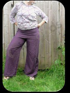 Purple Hempcel Casual Wideleg Pants for Women With Side by IOGoods, $74.00  https://www.etsy.com/listing/128960025/purple-hempcel-casual-wide-leg-pants-for