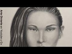 Cómo dibujar una cara realista con carboncillo y lápiz - Arte Divierte. - YouTube