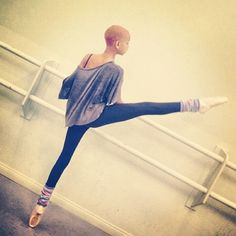 willow smith! she is an intense ballet dancer and has started to pursue it a lot more since she stopped her tour