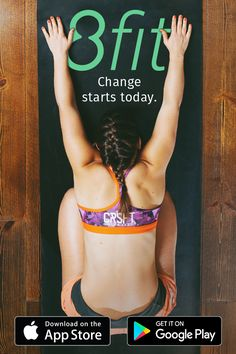 Downloads 8fit app, get fit, keep the fat off and stay toned! Start little habits for a big change.  You too can tone your body, boost your confidence and become the best version of you. ✌️