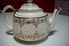 Vintage Teapot Sadler England Ivory and by UpcycledCottageDecor