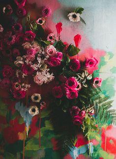art flower backdrop