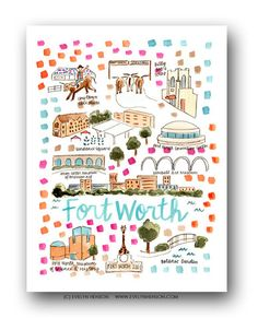 Fort Worth, TX Map Print – Evelyn Henson