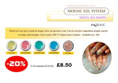 Enjoy up to 30% off from Mosaic products between 1-3 April, 2015 in store or online (until stock last)! Visit our website www.susansnailstore.co.uk  SELETED COLOURS ONLY!