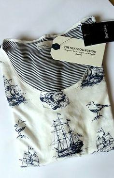 Men Navy T-shirt Bershka