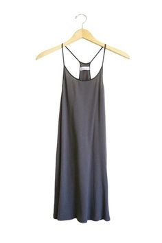 Lacausa Racer slip dress. Available in black, evergreen, siesta and white. PIPE AND ROW