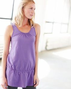 Next item of yoga lust -- zinni™ by Garnet Hill Peplum Tank