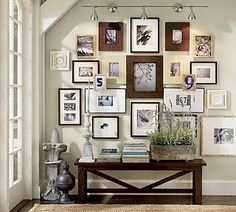 frame wall with bench. This belongs in my house.
