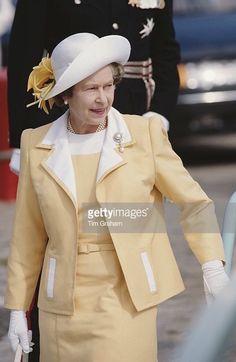 Queen Elizabeth II visits Torquay in Devon, 21st July 1988.