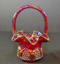 carnival glass basket