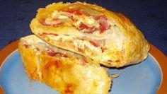 Παστουρμαδόπιτα+πικάντικη+με+σφολιάτα Appetisers, Baked Potato, French Toast, Recipies, Cheese, Snacks, Baking, Dinner, Breakfast