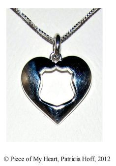 """Whether you're a wife, mother, daughter, grandmother, or girlfriend, when you love a police officer it takes courage and sacrifice. You can wear this necklace proudly as a symbol of your sacrificial love and to remind the Officer you love that """"Wherever you are, you will always have a Piece of My..."""